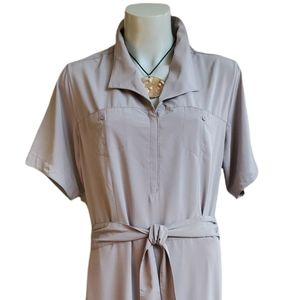 Exofficio grey maxi travel dress, L